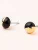 Scout Curated Wears Scout Black & Gold Dipped Stone Stud Earrings