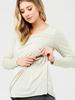 Ripe Ripe Maternity Soft Grass 'Raw Edge' Nursing Top