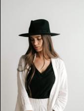 Gigi Pip Black 'Monroe' Rancher Fedora