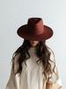 Gigi Pip Gigi Pip Rusty Red 'Dakota' Triangle Crown Wide Flat Brim Fedora
