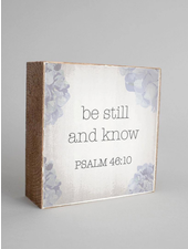 Rustic Marlin Decorative Wooden Block | Be Still And Know