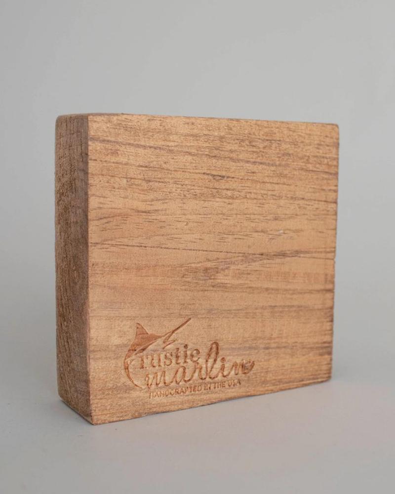 Rustic Marlin Rustic Marlin Decorative Wooden Block   Life Is Tough