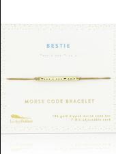 Lucky Feather Morse Code Bracelet   Bestie