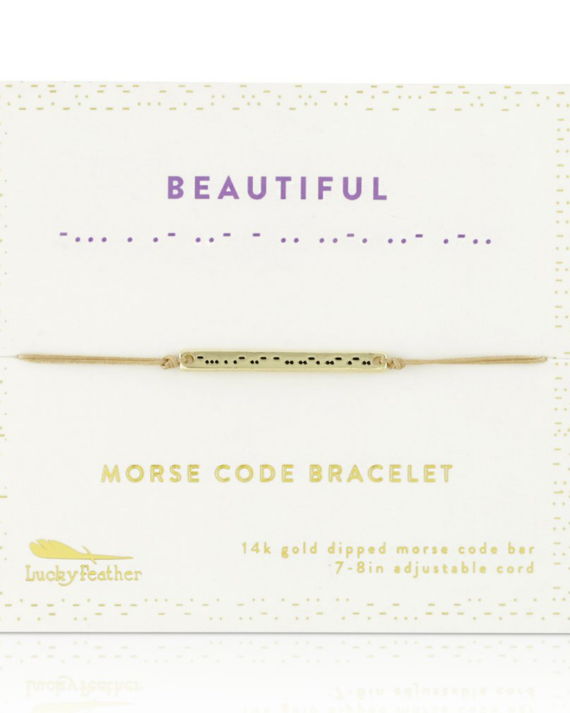 Lucky Feather Lucky Feather Morse Code Bracelet   Beautiful