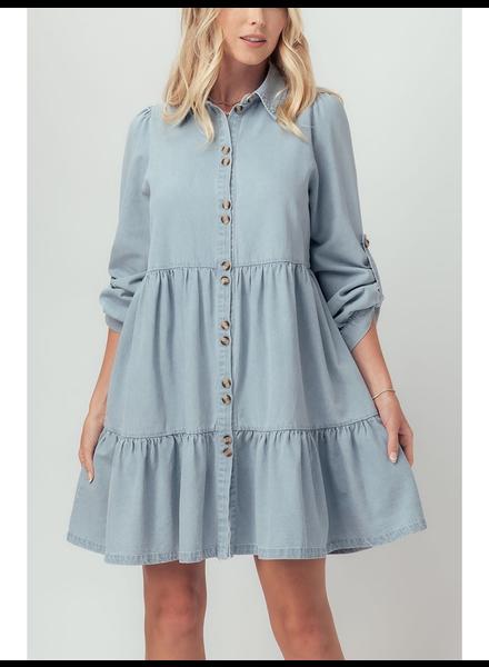 Urban Daizy Blue 'Ingalls' Ruffle Tiered Dress
