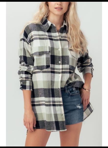 Urban Daizy 'Sage Advice' Plaid Shirt