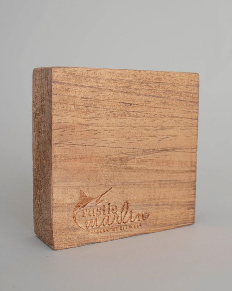 Rustic Marlin Rustic Marlin Decorative Wooden Block | Heroes