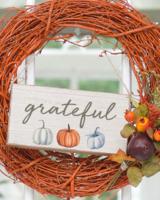 Rustic Marlin Twine Hanging Sign | Grateful