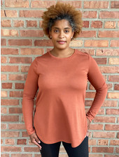 KLD Signature Copper 'Who You Calling Basic' Side Split Top