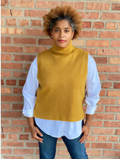 KLD Signature Mustard  'Come Out Your Shell' Hi-Low Sweater