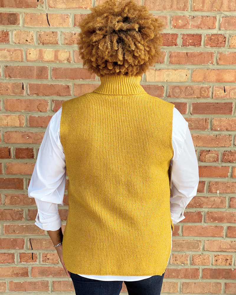 KLD Signature KLD Mustard  'Come Out Your Shell' Hi-Low Sweater