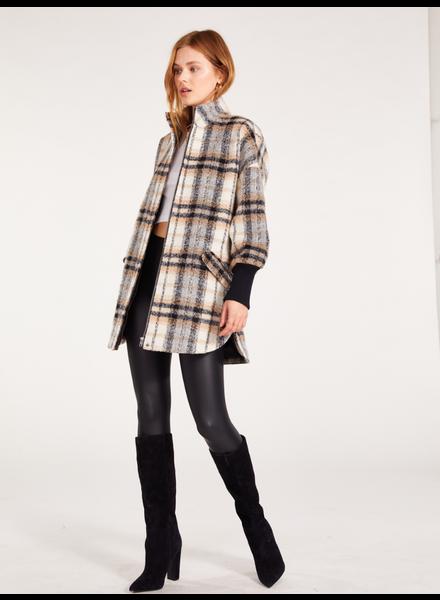BB Dakota Ivory 'Plaid Times' Jacket