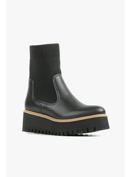 All Black Flatform Sock Boot