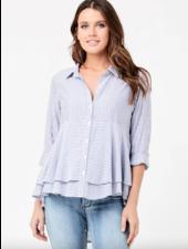 Ripe Stripe Layered Peplum Shirt