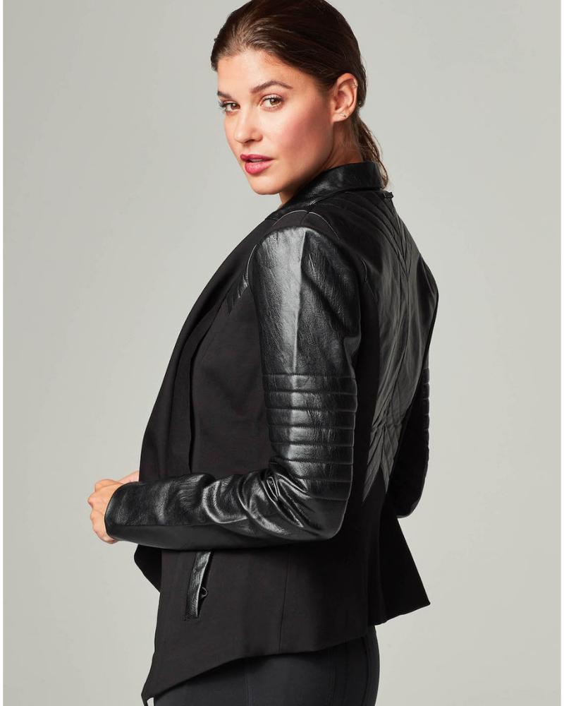 Blanc Noir Blanc Noir Drape Front Jacket