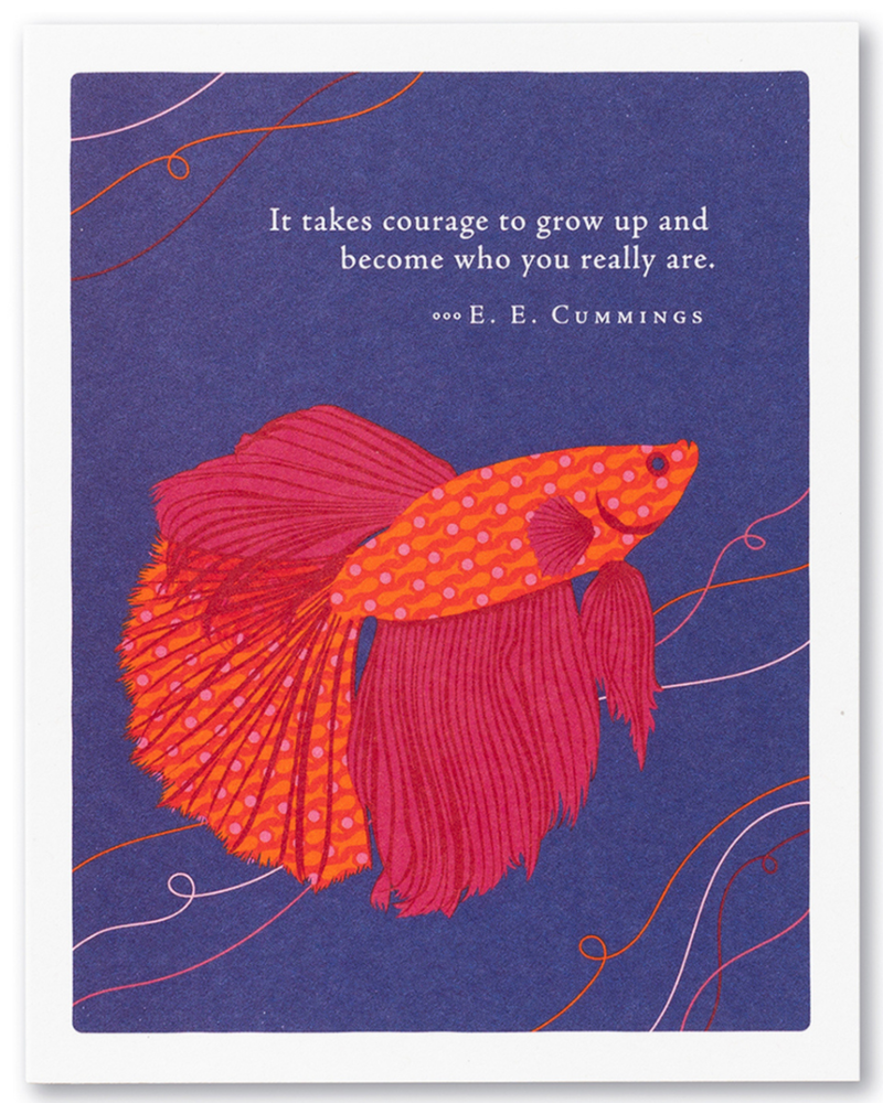 Compendium Compendium Birthday Card 'It Takes Courage To Grow Up'