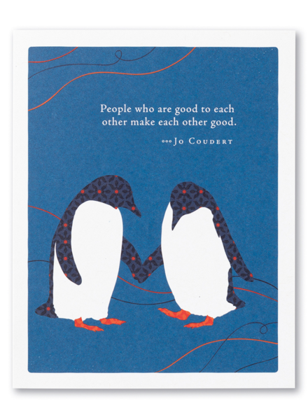 Compendium 'People Who Are Good To Each Other' Thank You Card