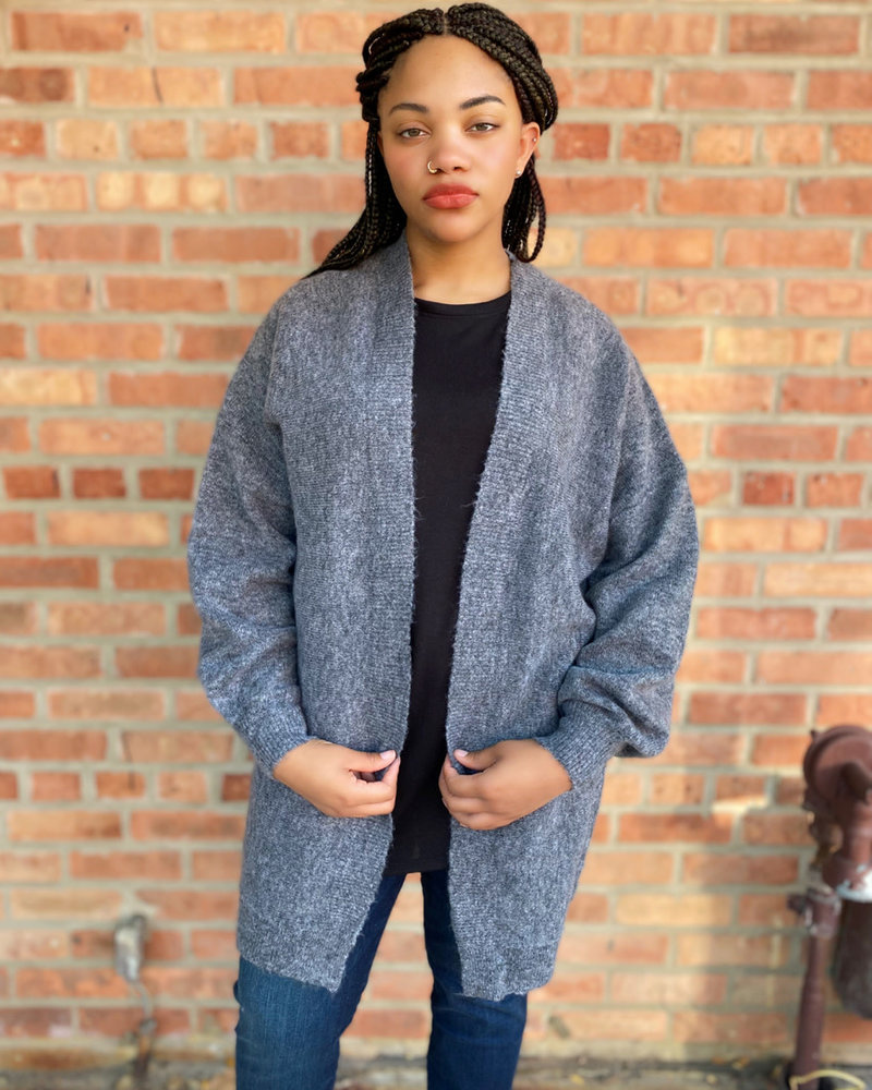 RD Style RD Style Grey 'Bark Or Bite' Cardigan