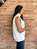 RD Style RD Style Winter White 'Big Shoulders' Sleeveless Sweater