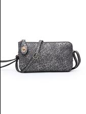 Jen & Co. 'Kendall' Snapper Cheetah Crossbody Bag (More Colors)