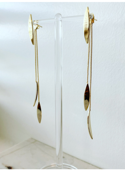 Must Have Leaf Whisper Earring Gold