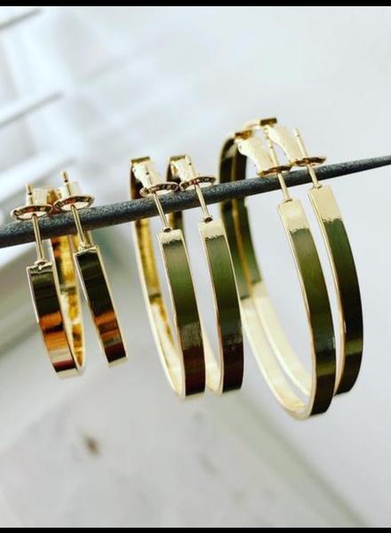 Must Have Solid Flat Hoop Earrings - Large (2 Colors)