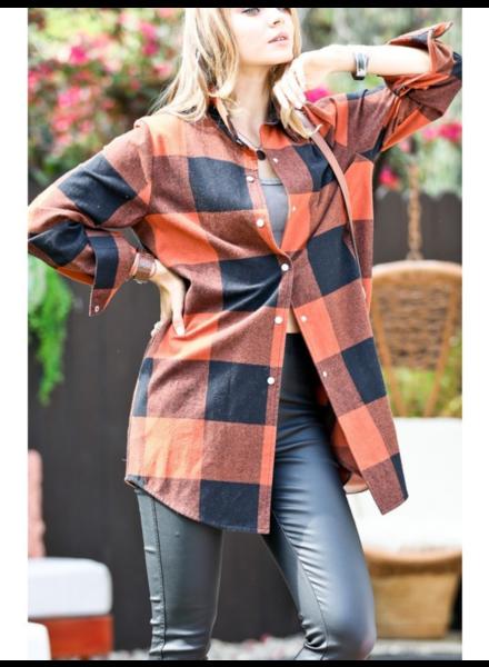 Mazik 'Pumpkin Spice' Plaid Jacket