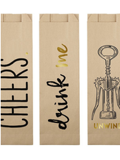 SB Design Studio Paper Wine Bags - Assorted (6pk)