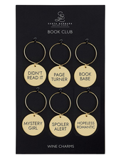 SB Design Studio Book Club Wine Charm Set