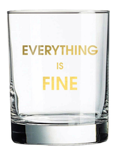 Chez Gagne Rocks Glass   Everything Is Fine