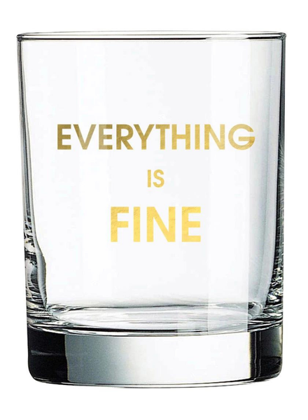 Chez Gagne Rocks Glass | Everything Is Fine