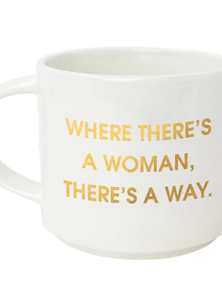 Chez Gagne 'Where There's A Woman' Jumbo Mug