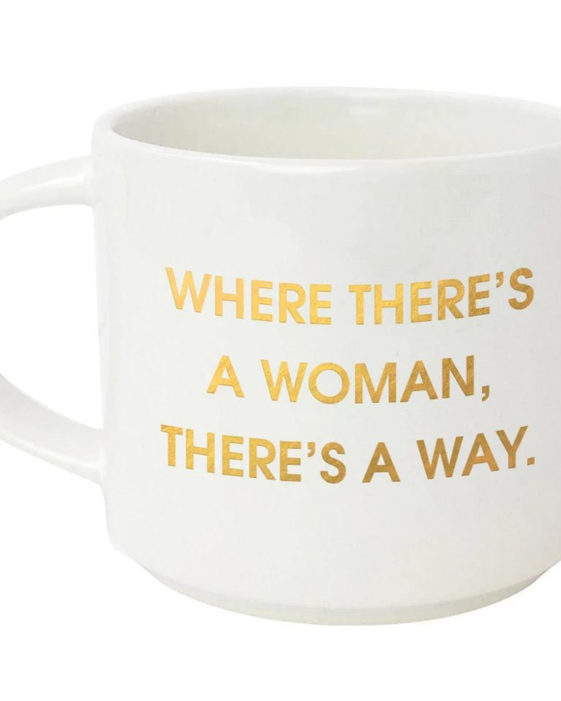 Chez Gagne Chez Gagne 'Where There's A Woman' Jumbo Mug