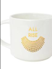 Chez Gagne 'All Rise RBG Collar' Mug