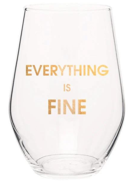Chez Gagne Wine Glass | Everything Is Fine