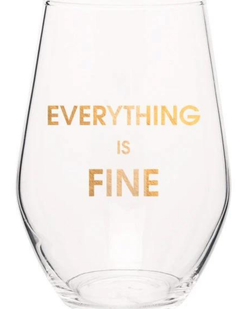 Chez Gagne Chez Gagne Wine Glass | Everything Is Fine
