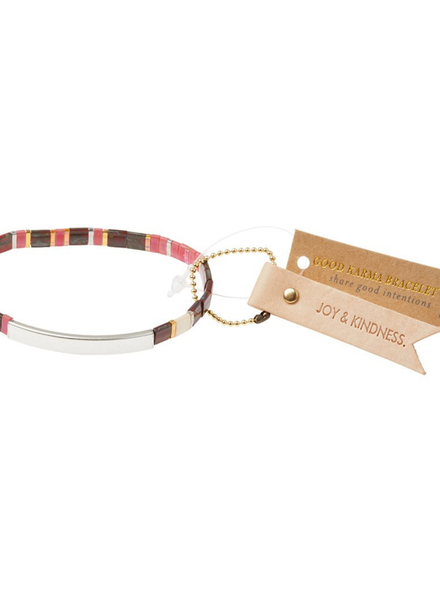 Scout Curated Wears Good Karma Joy & Kindness Mulberry/Silver