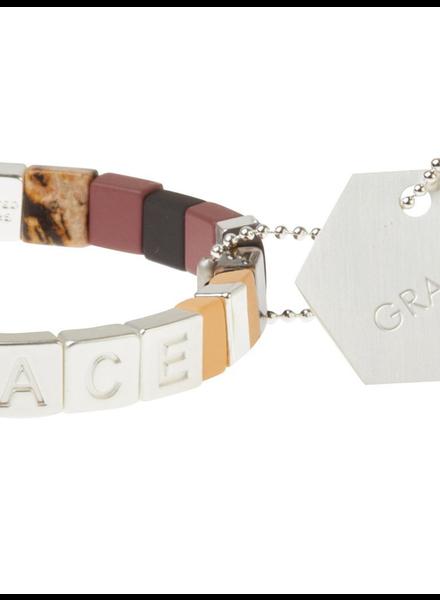 Scout Curated Wears Empower Bracelet | Grace Silver/Rhodonite/Rose Quartz