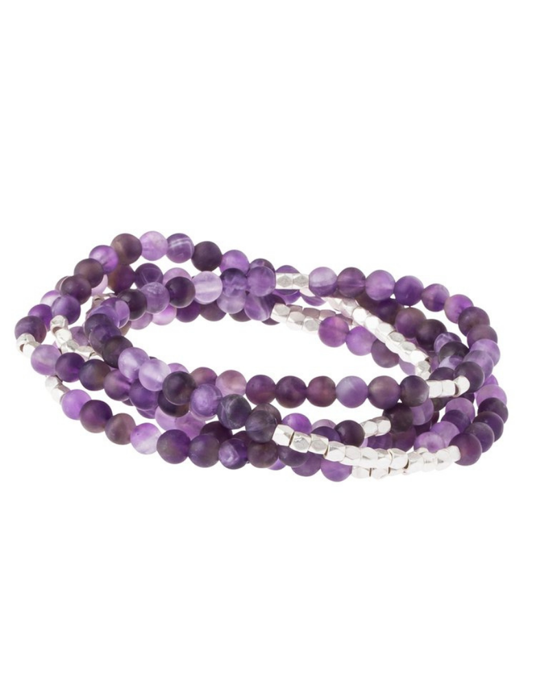 Scout Curated Wears Scout Amethyst/Silver  Stone Wrap Bracelet/Necklace