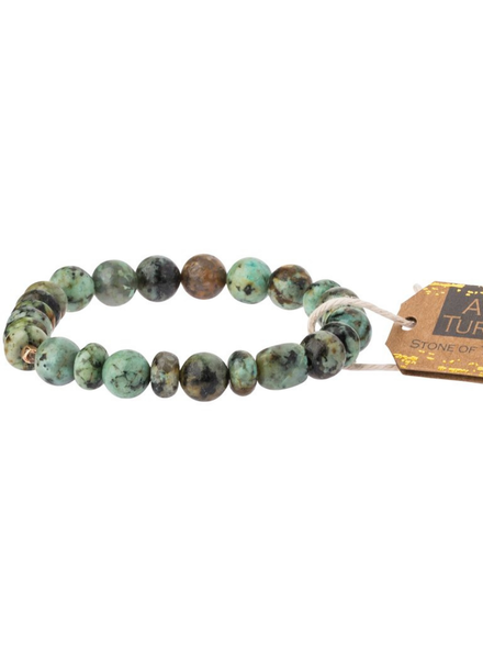 Scout Curated Wears African Turquoise Stone Stacking Bracelets
