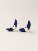 Scout Curated Wears Scout Lapis/Silver Crescent Moon Stud