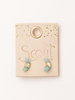 Scout Curated Wears Scout Black Spinel/Gold Crescent Moon Stud
