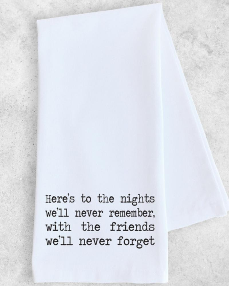 DEV D + Co Dev D Tea Towel | Here's To The Nights