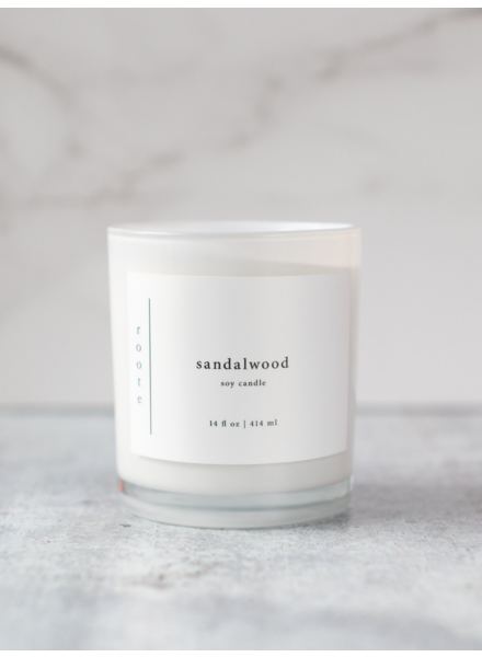 Roote Soy Candle in Sandalwood