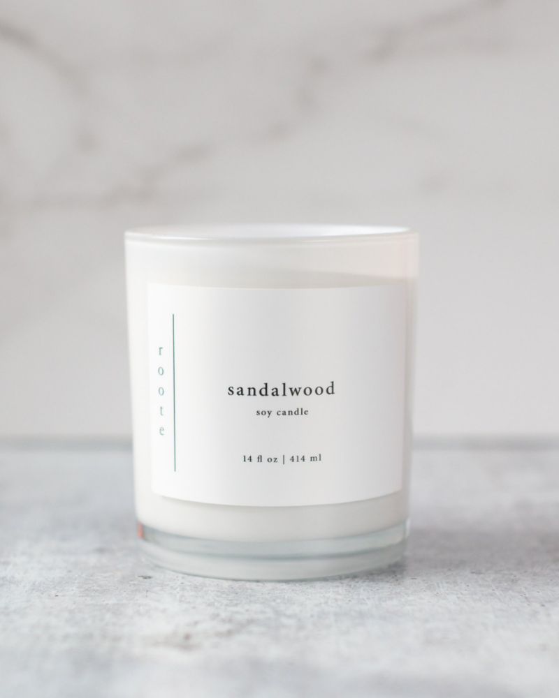 Roote Roote Large Soy Candle in Sandalwood