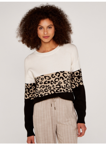 Apricot 'Leopard Trifecta' Sweater