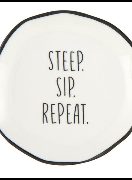 SB Design Studio Tea Bag Rest   Steep. Sip. Repeat.