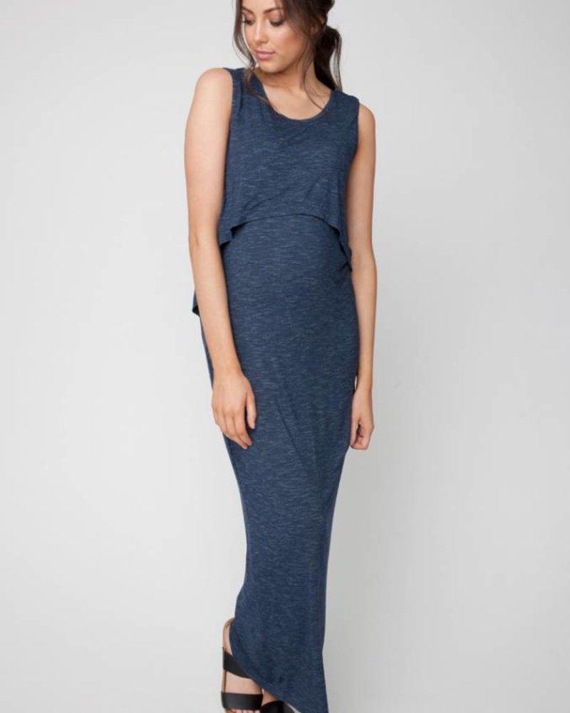 Ripe Ripe Maternity Denim 'Swing Back' Nursing Maxi Dress **FINAL SALE**