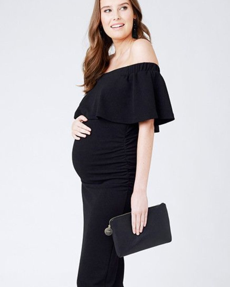 Ripe Ripe Maternity 'Soiree' Off Shoulder Dress (Extra Small) **FINAL SALE**