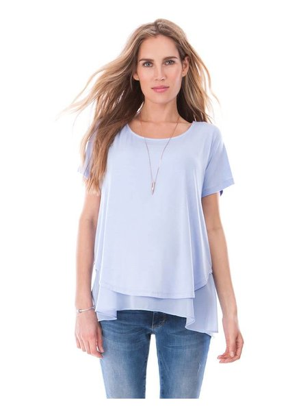 Seraphine Maternity Powder Blue 'Roxanne' Layer Nursing Top (Large) **FINAL SALE**